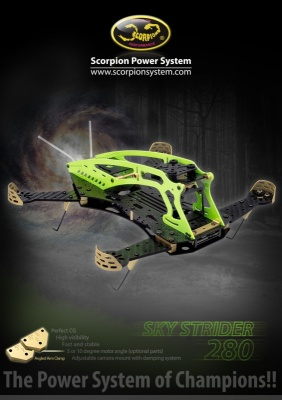 Scorpion Sky Strider 280 FPV Racing Quad Copter Kit